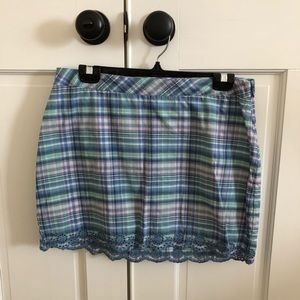 Vineyard Vines Blue Plaid Mini Skirt